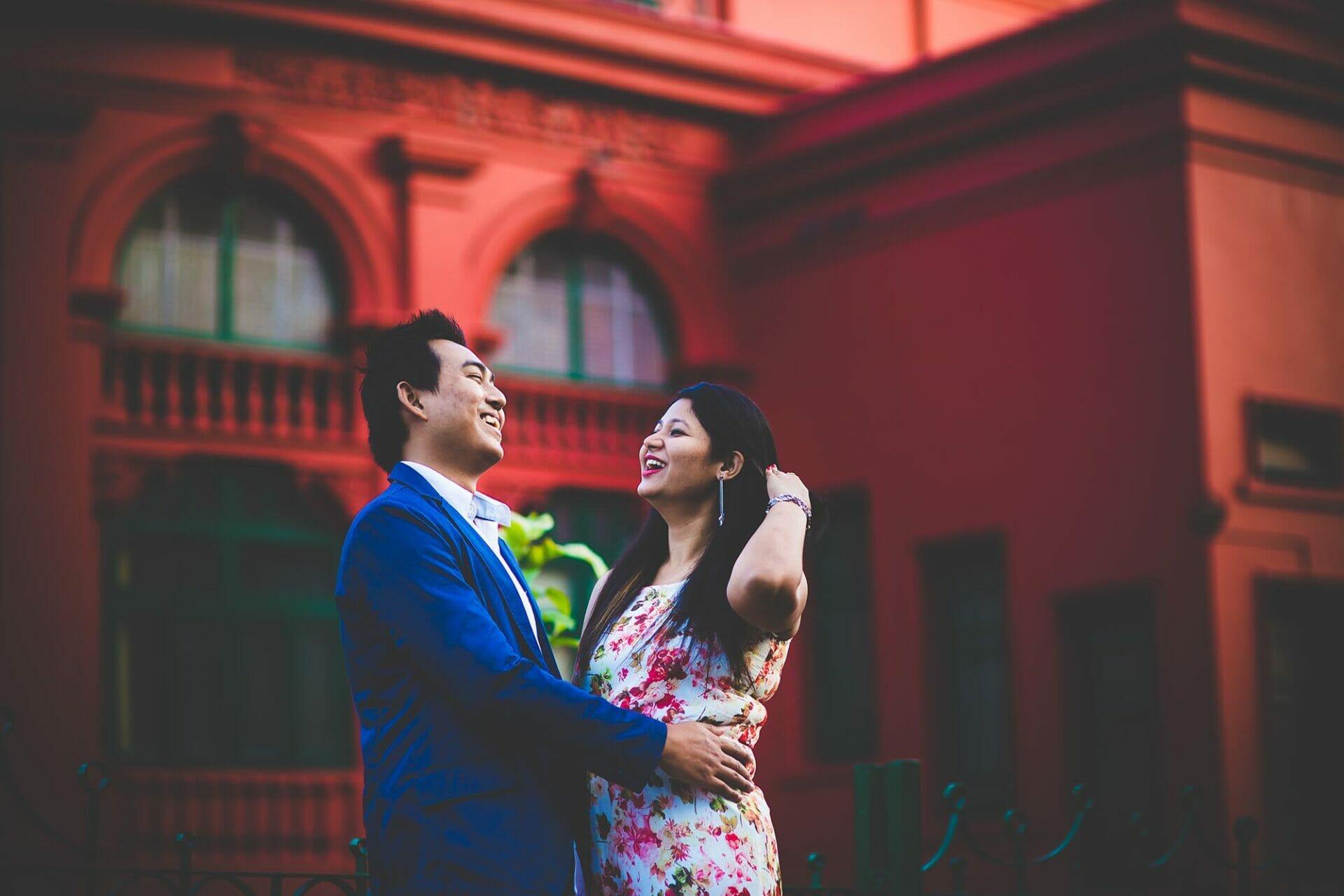 couple portrait Bangalore wedding photographer