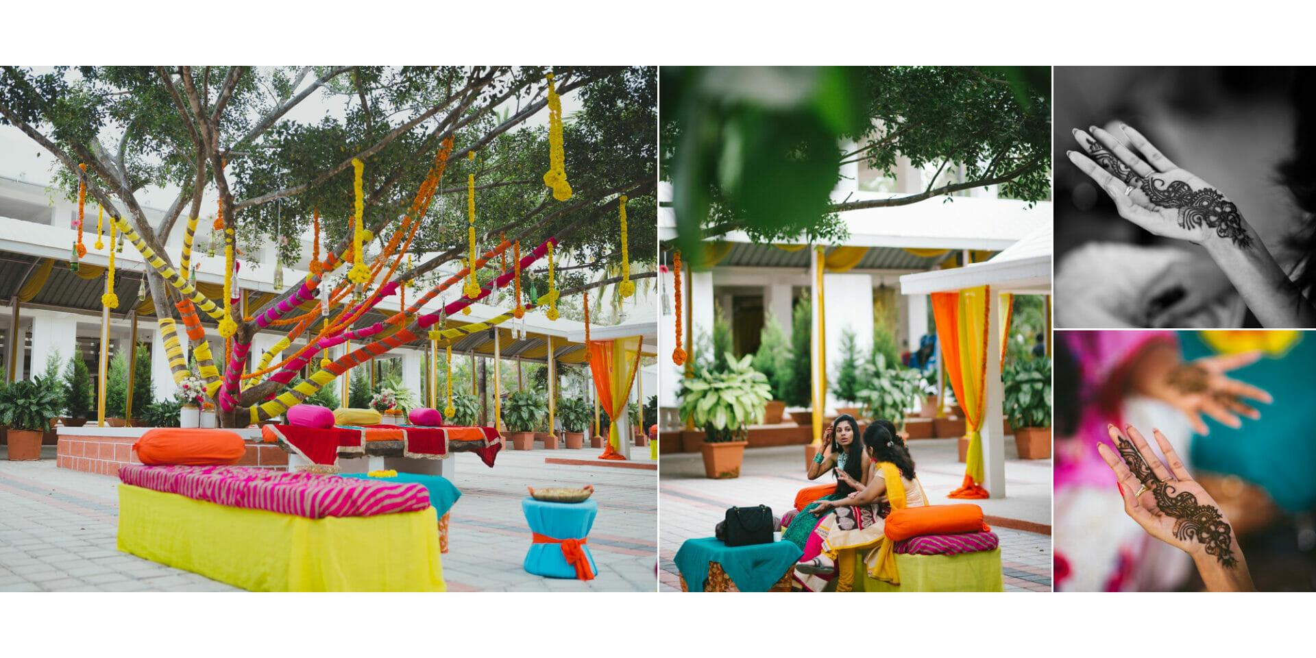 shruti annayya sree vikash photography mehandi sangeeth kalathur gardens 10