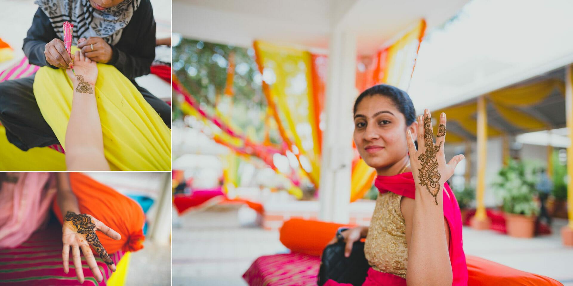 shruti annayya sree vikash photography mehandi sangeeth kalathur gardens 7